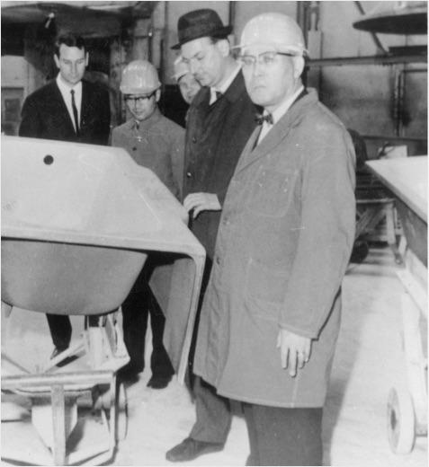 1967年ドイツの鋳造会社を訪問