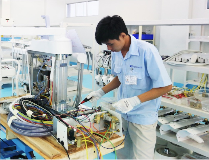 ベトナム工場の作業の様子