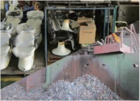 下取り製品の金属リサイクル