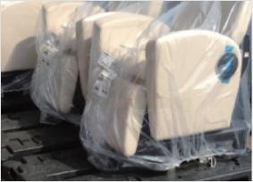 部材梱包の減容化・再利用